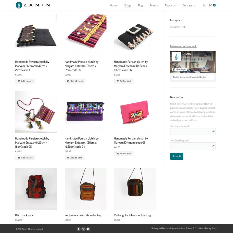 Clutch Perzische Handgemaakte Accessoires: Webshop